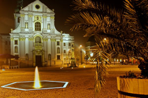 Cooperated stainless steel fountain in Opava