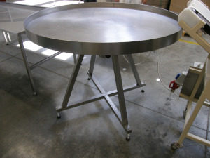 Stainless steel revolving table